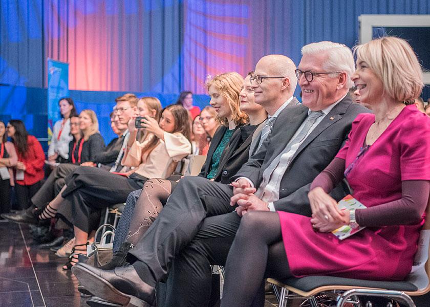 Eventfotograf, Deutsch französisches jugendwerk, fransiksa giffey, frank-walter steinmeier, emmanuel macron, youth for peace 2018, berlin, eventfotos