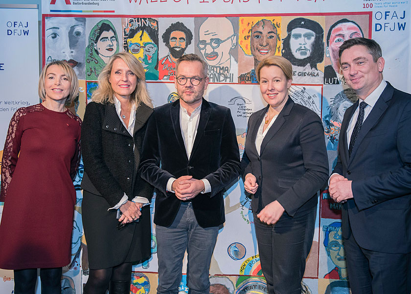 Eventfotograf, Deutsch französisches jugendwerk, fransiksa giffey, frank-walter steinmeier, emmanuel macron, youth for peace 2018, berlin, eventfotos, eventfotografie berlin